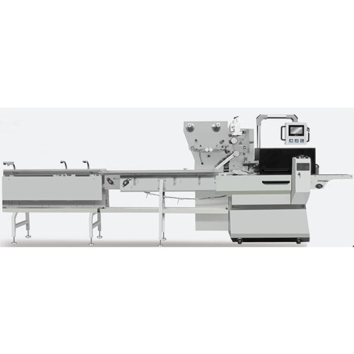 The structure of the machine has been designed for packing solid block goods. Using in packing bakery products, cake, bread, and more