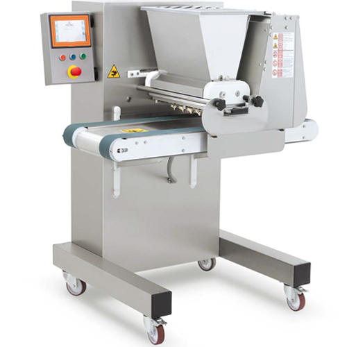 Designed to be the most versatile and compact wire-cutting and dropping machine for producing cookies and biscuits. A very wide range of nozzles and moulds allows the creation of numerous shapes and sizes, leaving wide space for the creativity and fantasy of the user. In addition to the dosing group for hard dough, SUPREMA can also work with the pump dosing group for creamier soft dough.