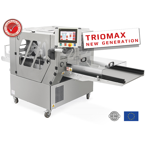 This is a premium class, unique machine for biscuit and cookie production. It is equipped with three (TRIOMAX), or two (DUOMAX) hermetic heads and stainless steel rollers; it enables the production of wide range of biscuits and cookies with many shapes and lenghts.